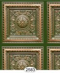 Rosette Panel Paper Green Patina Copper
