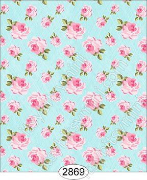 Wallpaper - Tea for Two - Floral Toss Blue - Click Image to Close