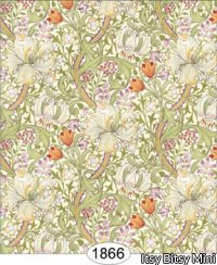 Wallpaper - Victorian Lilies - Green Autumn