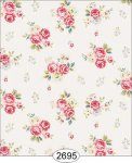 Wallpaper Rose Hill Small Floral Red 2