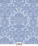 Wallpaper - Annabelle Reverse Damask Blue Serenity