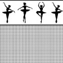 Wallpaper - Ballerina Silhouette Black - Stripe