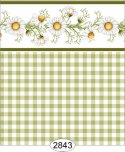Wallpaper - Daisy Green Border - Check