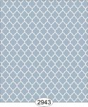 Wallpaper Geometric Trellis Reverse Blue