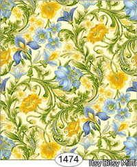 Wallpaper - Floral Tapestry - Blue