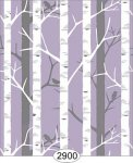 Wallpaper Birch Tree Purple
