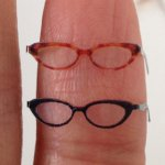 Dollhouse Miniature Eyeglass - Female - IVY Black