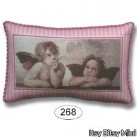 Pillow - Cherubs - Pink Stripe