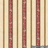 Wallpaper - French Kitchen - Red Stripe NO BORDER