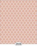 Wallpaper Geometric Trellis Reverse Orange Peach