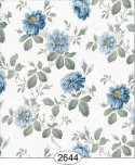 Wallpaper Rose Hill Floral Blue