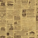 Wallpaper - Vintage Cars Newsprint 1