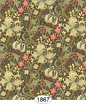Wallpaper - Victorian Lilies - Green Olive