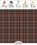 Wallpaper - School House Border - Plaid