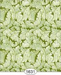 Wallpaper - Victorian Leaves - Green