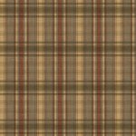 Wallpaper - Cabin Plaid - Green with Brown