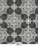 Wallpaper Rose Hill Tile Black