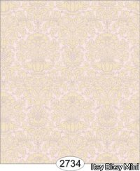 Wallpaper - Annabelle Mini Damask Pink Quartz with Cream
