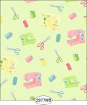 Wallpaper Sew Perfect Notions 2 Green No Border