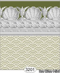 Wallpaper Jolie Shell Olive Green