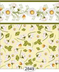 Wallpaper - Daisy Green Border - Toss Yellow