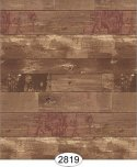 Wallpaper - Reclaimed Wood - Red on Brown