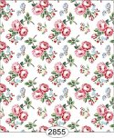 Wallpaper - Cottage Chic - Bouquet on White