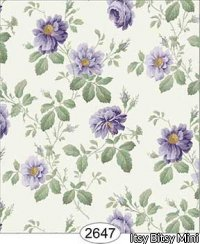 Wallpaper Rose Hill Floral Purple