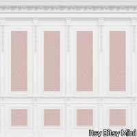 French Wall Panel Boiserie Pink