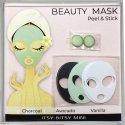 Dollhouse Miniature Makeup Spa Mask Set