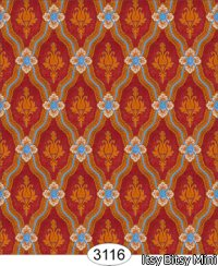 Wallpaper - Royal Tapestry Red