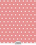 Wallpaper Retro Hex Tiles Persimmon Red