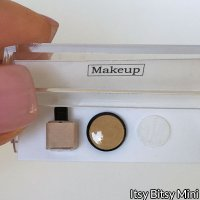 Dollhouse Miniature Makeup Cosmetic Foundation & Pressed Powder