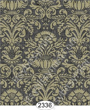 Dollhouse Wallpaper Annabelle Ribbon Stripe Black