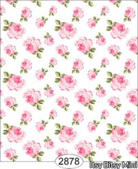 Wallpaper - Tea for Two - Floral Toss White