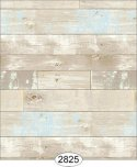 Wallpaper - Reclaimed Wood Floor - Blue on Beige