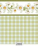 Wallpaper - Daisy Green Border - Plaid