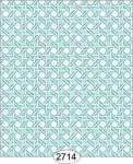 Wallpaper - Cane Lattice Teal Blue