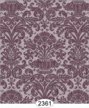 Wallpaper - Annabelle Reverse Damask Purple Plum
