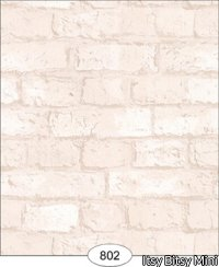 Wallpaper - Weathered Brick - White