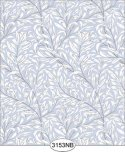 Jolie Willow Blue Periwinkle Wallpaper No Border