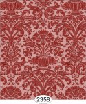 Wallpaper - Annabelle Reverse Damask Red