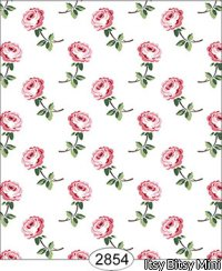 Wallpaper - Cottage Chic - Rose Stem