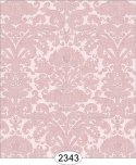 Wallpaper - Annabelle Reverse Damask Pink Quartz