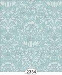 Wallpaper - Annabelle Damask Blue Opal