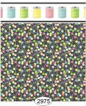 Wallpaper Sew Perfect Pins Multi Black Background