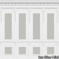 French Wall Panel Boiserie Blue Aqua