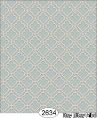 Wallpaper Rose Hill Trellis Blue Aqua