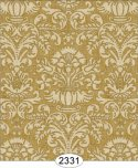 Wallpaper - Annabelle Damask Brown Mustard