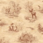Wallpaper - Hunter Toile Brown